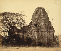 View from the north-west of the Bhimanath Sun Temple, Babriawad, Kathiawar